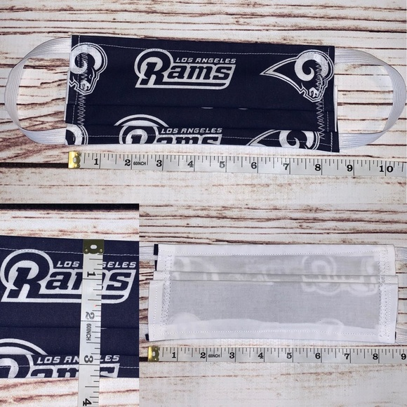 3/$15 Last 1! Adult LA Rams reversible face mask